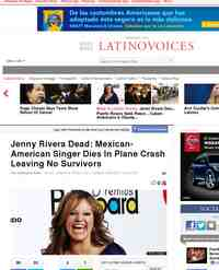 Jenny Rivera Dies In Plane Crash Leaving No Survivors - One News Page